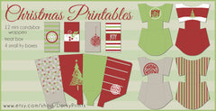 Christmas Treat Containers Holiday Printables
