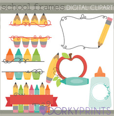 Frames Back to School Clipart