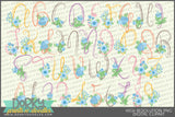 Swirls and Flowers Font and Symbols Clipart