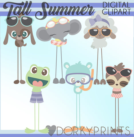 Tall Animals Summer Clipart