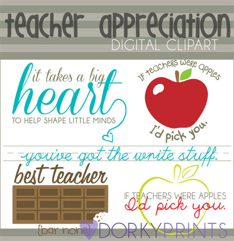 Teacher Appreciation School Clipart
