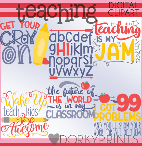 Teaching Phrases School Clipart