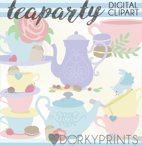 Tea Party Clipart