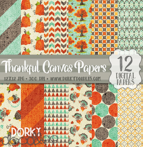 Thankful Digital Paper Pack