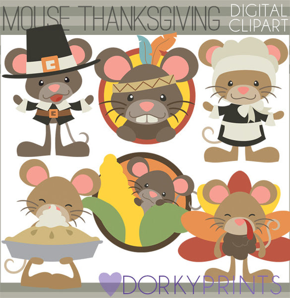 Mouse Thanksgiving Clipart