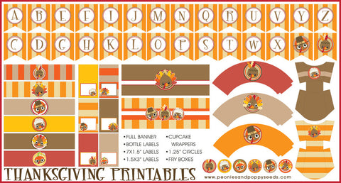 Thanksgiving Turkeys Holiday Printables