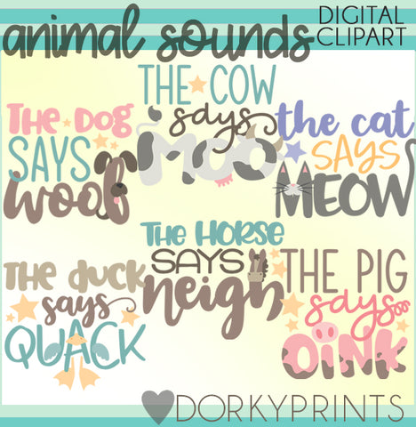 Sounds for Animals Clipart