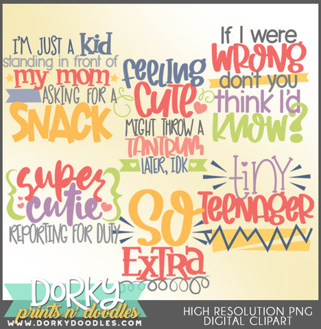 Silly Girl Titles Clipart