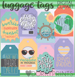 Travel and Luggage Tags Clipart