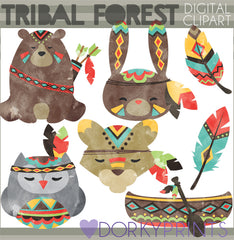 Tribal Forest Animals Clipart