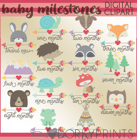 Monthly Milestones for Babies Clipart