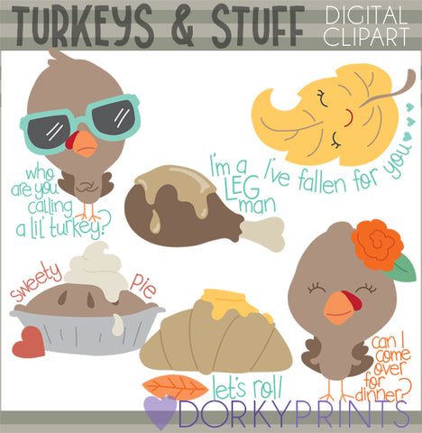 Snarky Turkeys Thanksgiving Clipart
