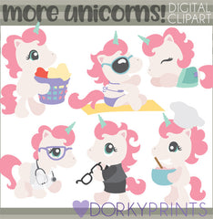 More Unicorn Animals Clipart