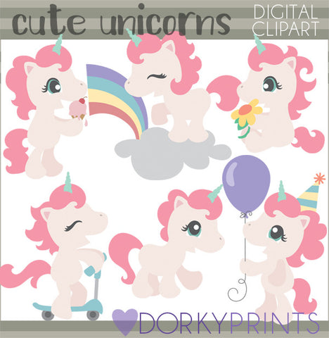 Unicorn Animals Clipart