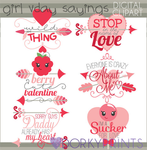 Girl Sayings Valentine Clipart