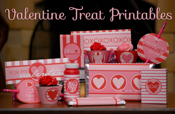 Valentine Treats and Holiday Printables