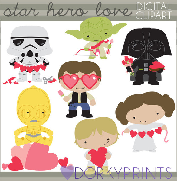 Star Heroes Valentine Clipart