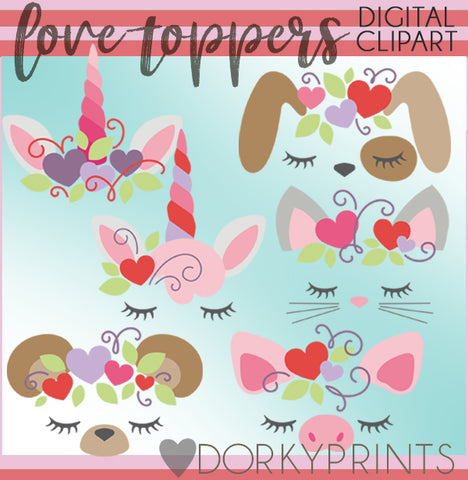 Toppers for Valentine Clipart