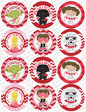 Star Heroes Valentine Circle Tags Holiday Printables