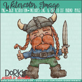 Viking Watercolor PNG
