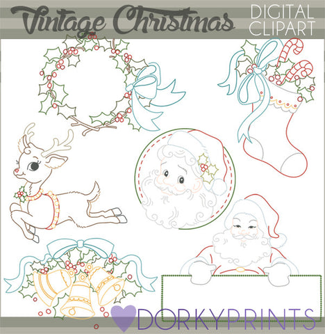 Vintage Christmas Clipart