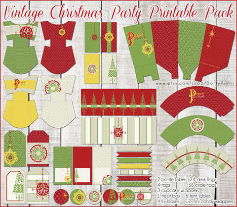 Vintage Christmas Holiday Printables