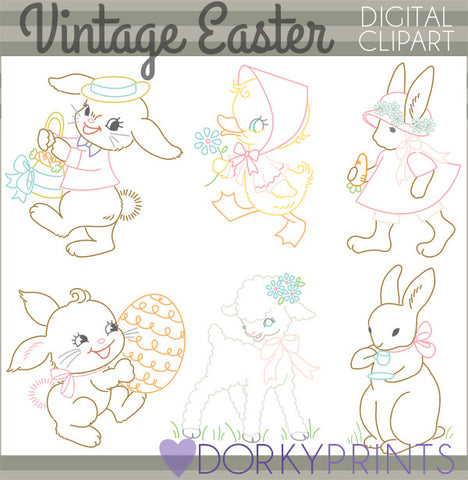 Vintage Easter and Spring Clipart