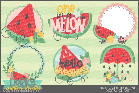 Cute Watermelon Food Clipart