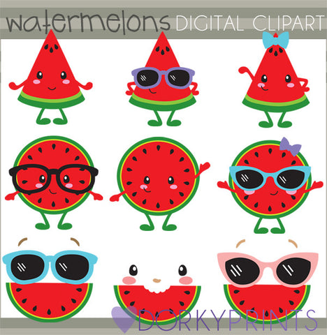 Watermelon Food Clipart