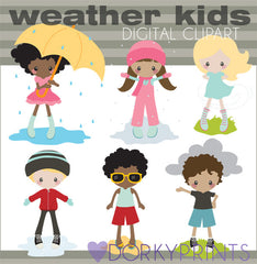 Weather Kids School Clipart