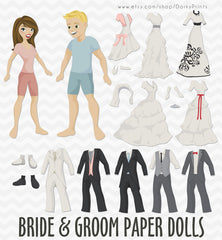 Wedding Paper Dolls Bible Printables