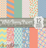 Girl and Boy Easter Bunny Digital Paper Pack