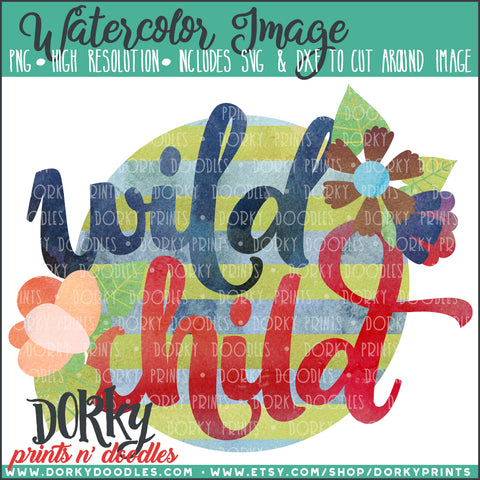 Wild Child Watercolor PNG