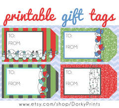 Christmas Gift Tags Holiday Printables