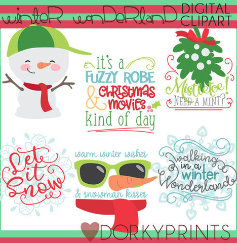 Winter Wonderland Christmas Clipart