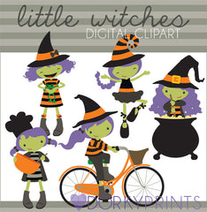 Little Witches Halloween Clipart