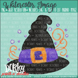 Witch Hat Watercolor PNG