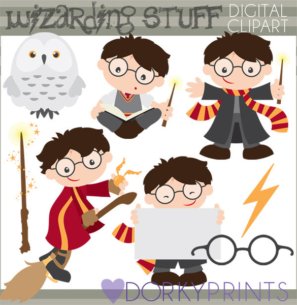 Magic and Wizard Character Clipart