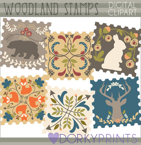 Forest Stamp Clipart