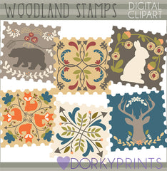 Forest Stamp Fun Clipart