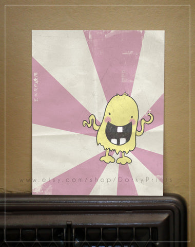 "Yellow Monster 8x10"" Printable"
