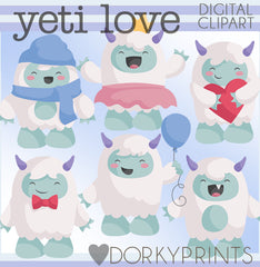 Cute Yeti Animals Clipart