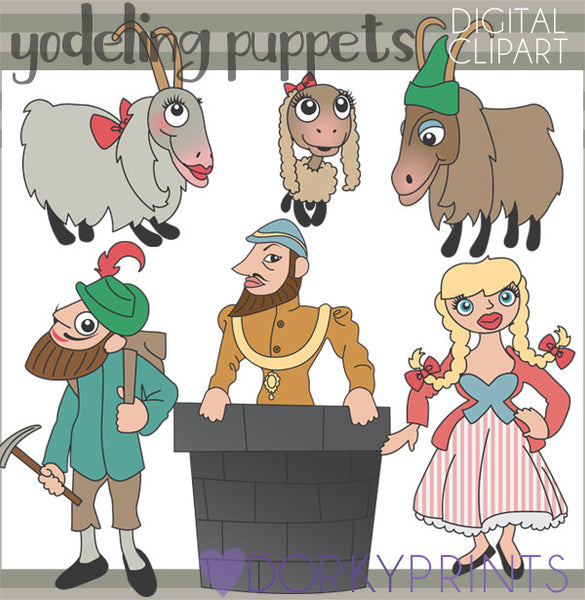 Yodeling Puppet Character Clipart