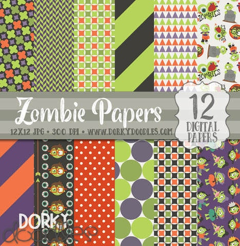 More Zombies Digital Paper Pack