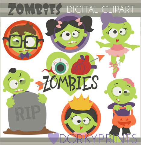 Zombies Halloween Clipart