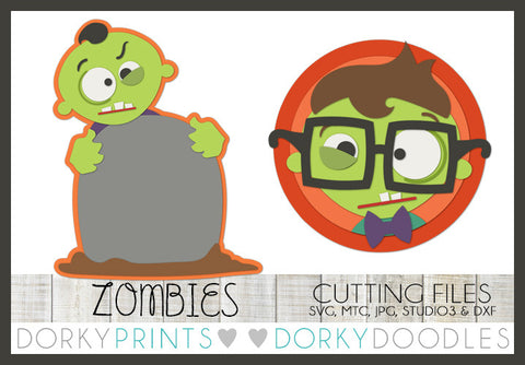 Zombies Halloween SVG Cuttable Files