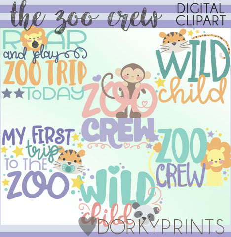 The Zoo Crew Animals Clipart
