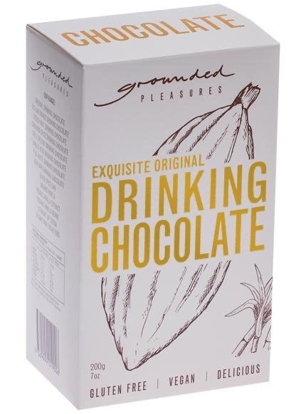 gluten free original drinking chocolate from Grounded Pleasures