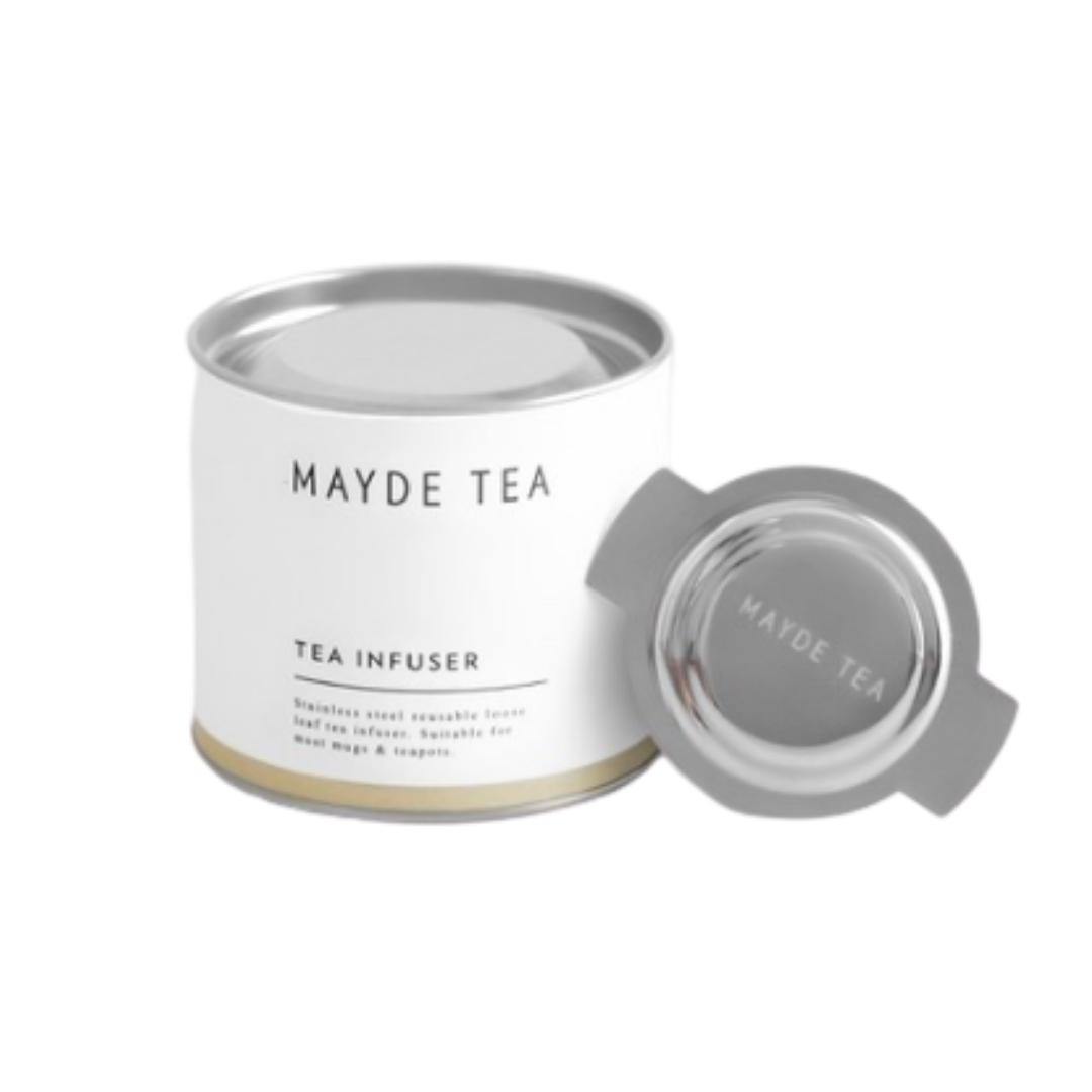 stainless streel loose leaf tea infuser by Australian tea producer Mayde Tea