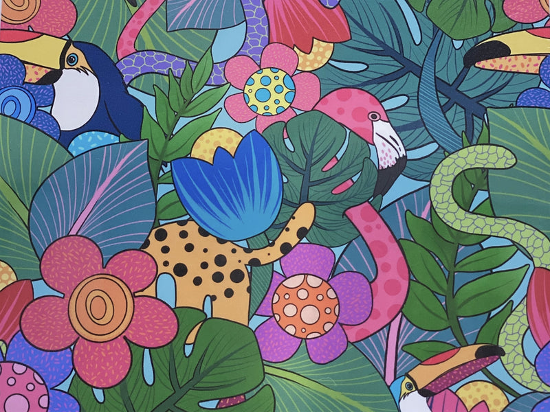 500 piece jungle jigsaw puzzle designed by Queensland artist Kasey Rainbow